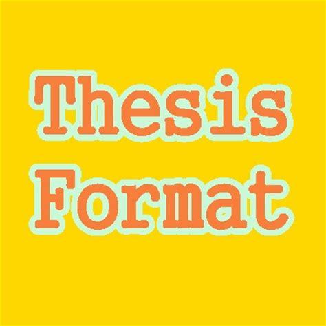 Thesis format dlsu